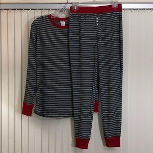 STARS ABOVE Gray/red Strip Pajama Loungewear Set